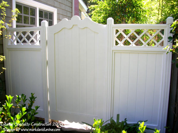 Wood gates and fences custom built in Los Angeles.