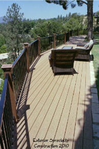 Hillside deck Los Angeles